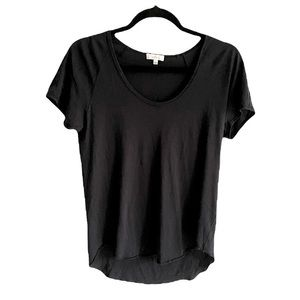 ARITZIA Wilfred Scoop Neck Shirt Sleeve T-Shirt Black S